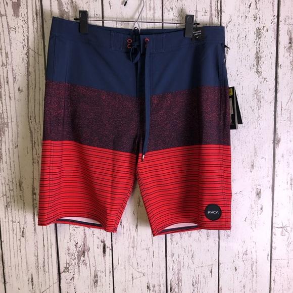 3ade967cd1 RVCA Swim | Nwt Trunks Red Blue 34 | Poshmark